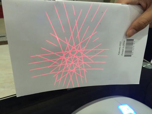 超市条码扫描平台-扫描光线